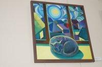 Выставка картин Федора Дулогло «Март - кот - май» вызвала большой интерес у комратской публики.