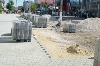 Работы по реконструкции ул.Победа продолжаются (фоторепортаж)