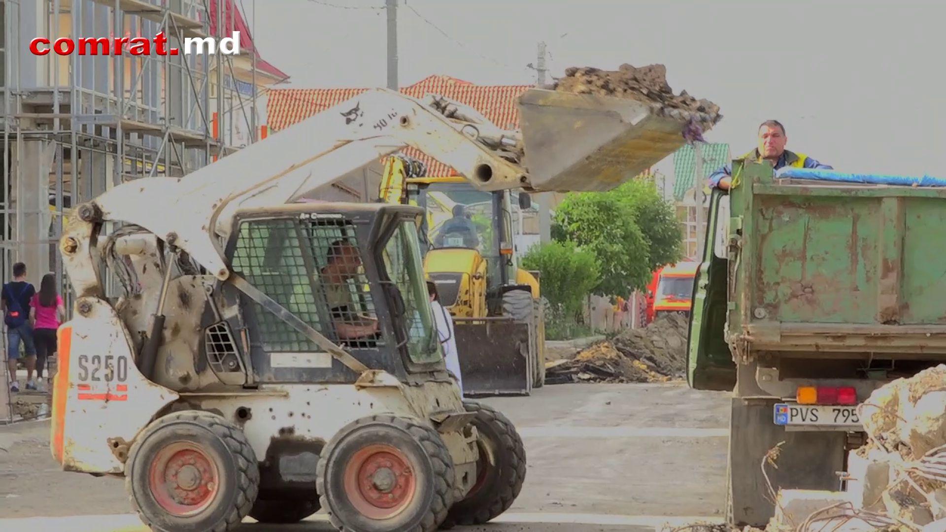 Реконструкция улицы Победа в Комрате (видео)