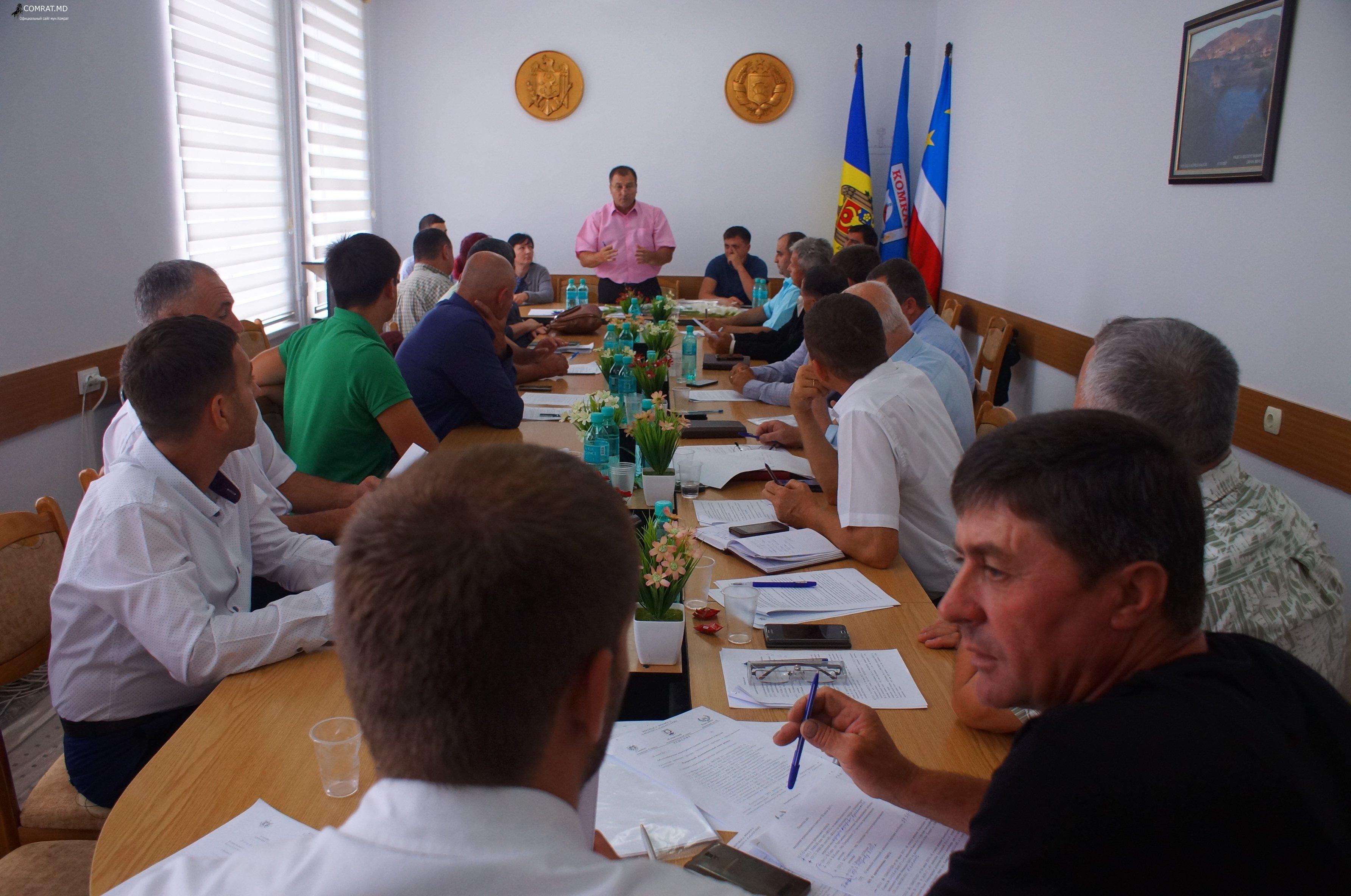 Заседание муниципального совета Комрат от 28.07.2017г (фоторепортаж)