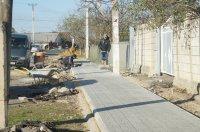В Комрате обновляется еще один тротуар