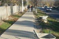 Георгий Сары: Работы по укладке тротуара на ул.Шевченко в м.Комрат завершатся в течение 1-2 дней