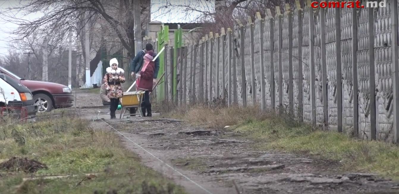 В Комрате обновляется тротуар в районе гимназии им.С.Курогло