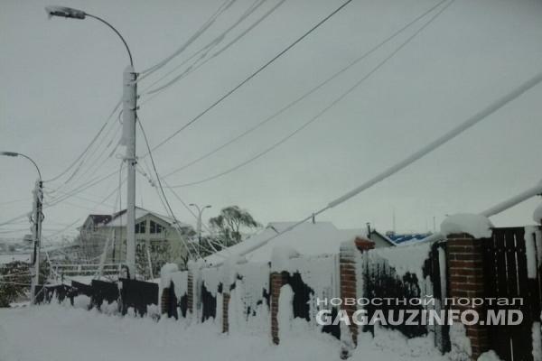 Штормовое предупреждение: в Гагаузии ожидаются снежные заносы