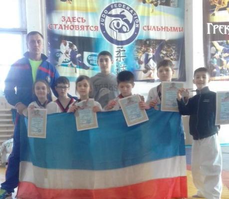 5 наград детского турнира по тхэквондо в Тирасполе у воспитанников Комратской МСШ