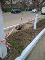 В м.Комрат ведутся работы по ликвидации провалов грунта в общественных местах