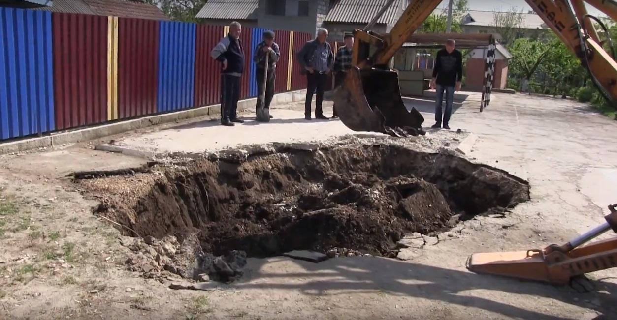 Еще один провал грунта ликвидирован в Комрате