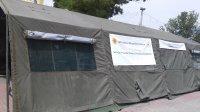 На площади Комрата вновь установлен реабилитационный центр помощи в жару.
